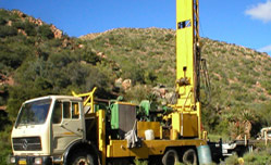 Drilling boreholes in Kenya